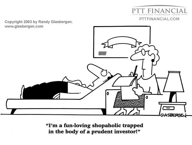 PTT Financial Cartoon of the Week: I'm a Fun-Loving Shopaholic