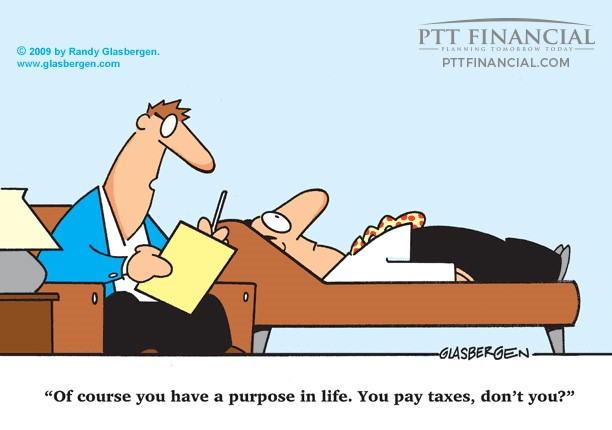 PTT Financial Cartoon of the Week: Of Course you have a Purpose in Life