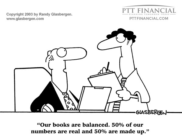 PTT Financial Cartoon of the Week: Our Books are Balanced