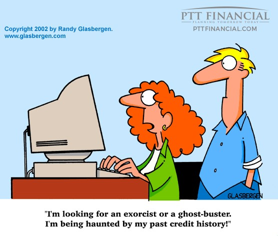 PTT Financial Cartoon of the Week: I'm Looking for an Exorcist or a Ghost-Buster